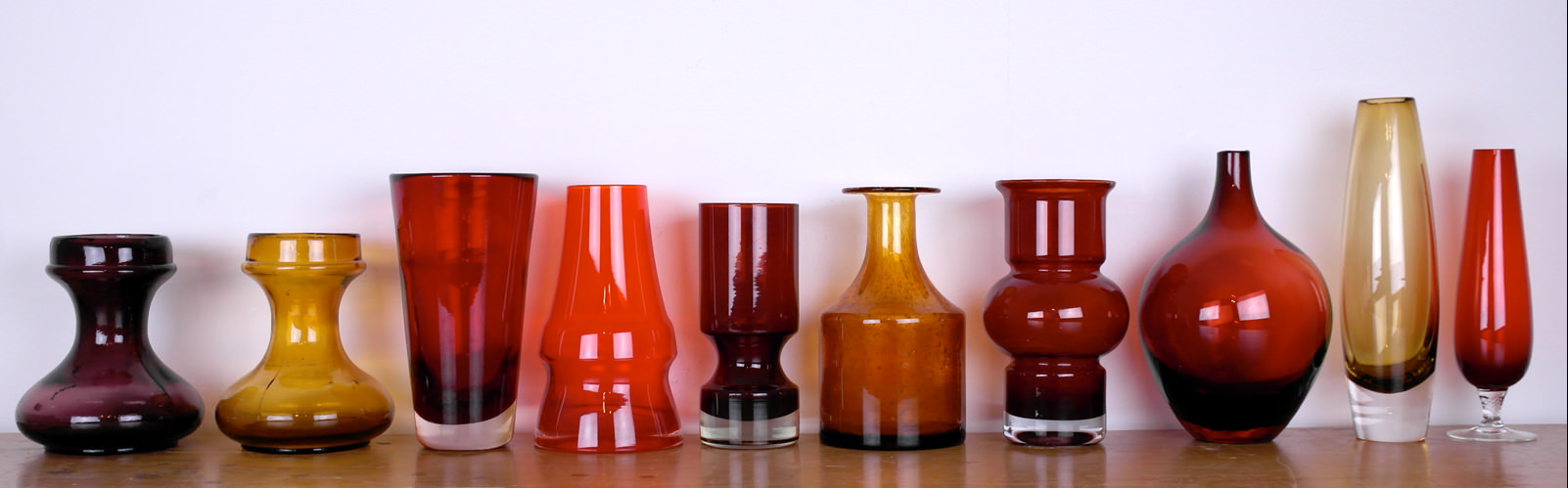 Vintage ruby, red and Scandinavian glassware