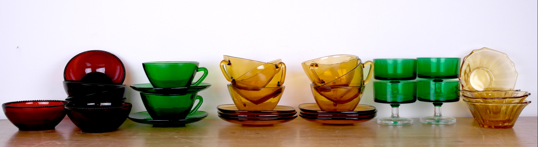 Vintage Murano glass bowls & cups & saucers