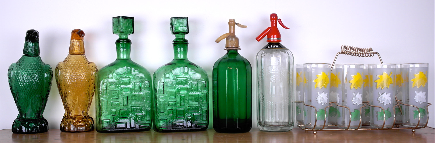 Vintage glass decanters