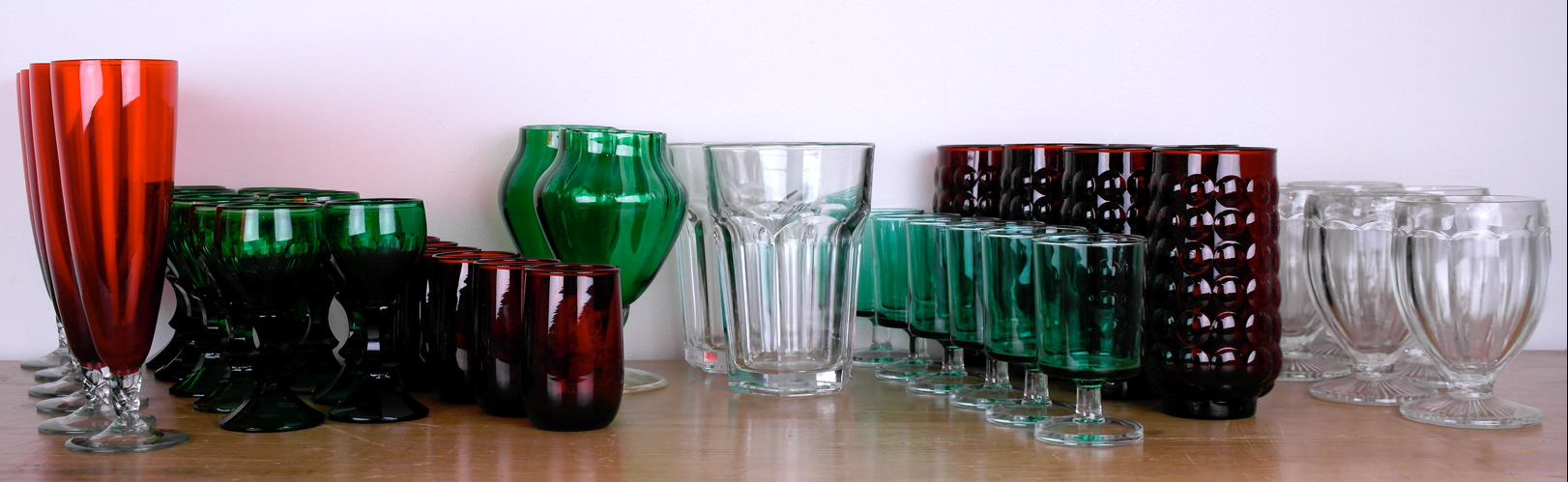 Vintage wine and drinking glasses