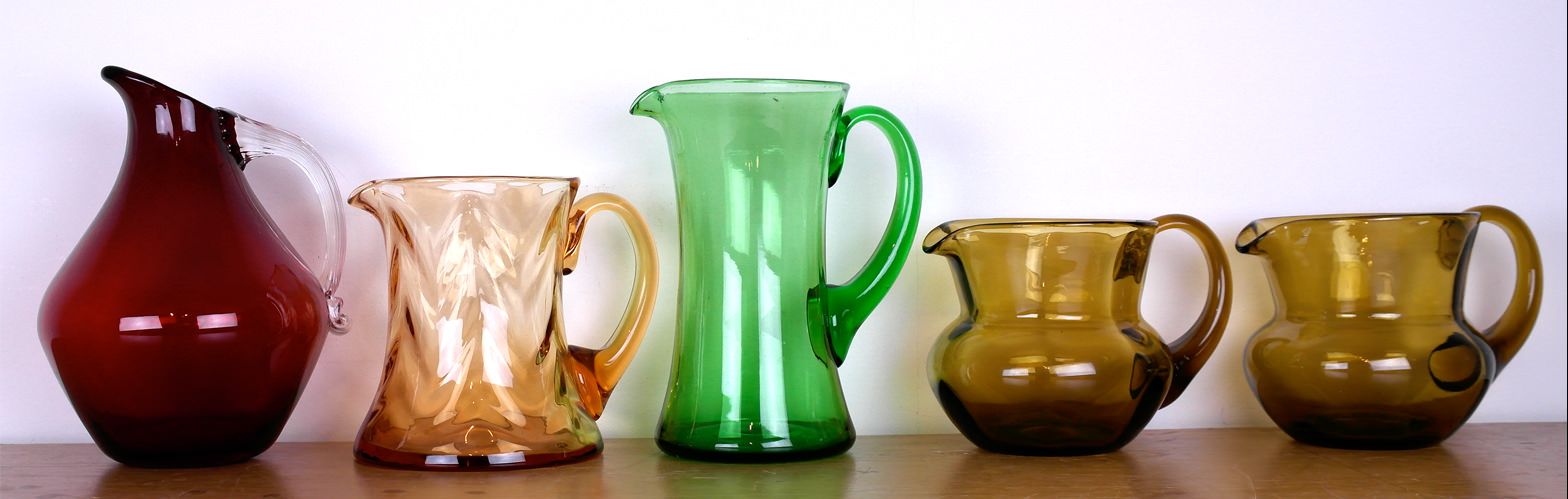 Vintage Whitefriars & 1940's jugs